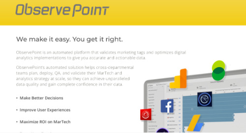 ObservePoint Complete Solution Product PDF