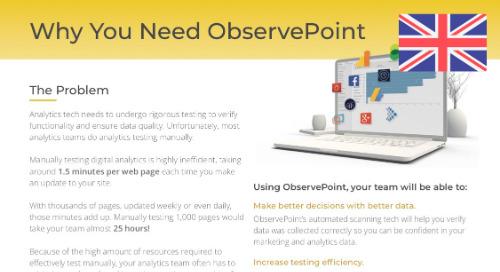 Why You Need ObservePoint (EMEA)