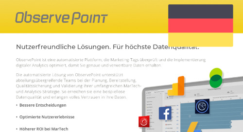 ObservePoint Complete Solution Product PDF (German)