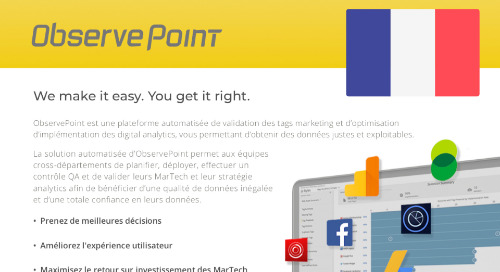 ObservePoint Complete Solution Product PDF (French)