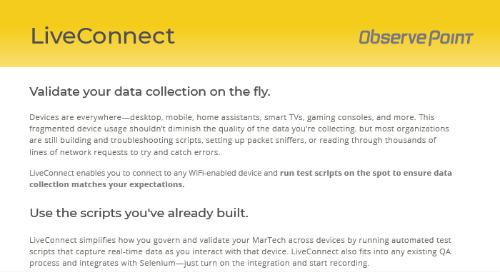 LiveConnect Product PDF