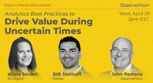 Analytics Best Practices to Drive Value During Uncertain Times