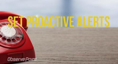 Set Proactive Alerts