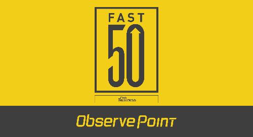 ObservePoint Makes the 2021 Utah Business Fast 50 List