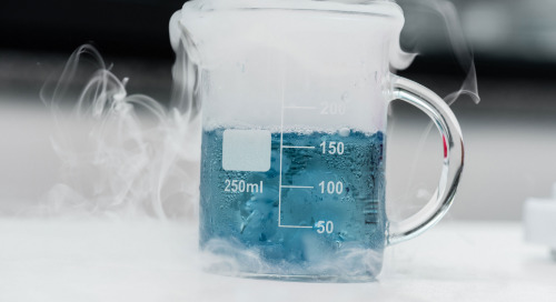 Ice, ice, bubble - a dry ice sublimation demonstration