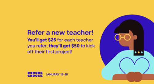 Jan 12-18, 2020 is DonorsChoose Winter Welcome Week for Teachers
