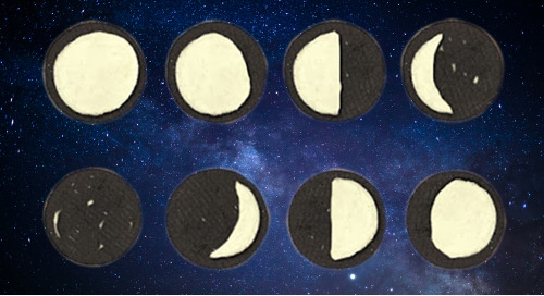 Looks like a moon but tastes like a cookie, it's a moon phase activity