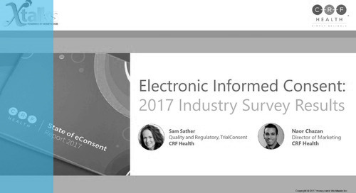 Electronic Informed Consent: 2017 Industry Survey Results