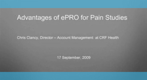 Advantage of ePRO for Pain Studies