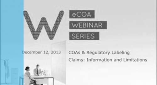 COAs and Regulatory Labeling Claims: Information and Limitations