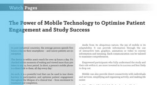 Power of Mobile Technology to Optimize Patient Engagement