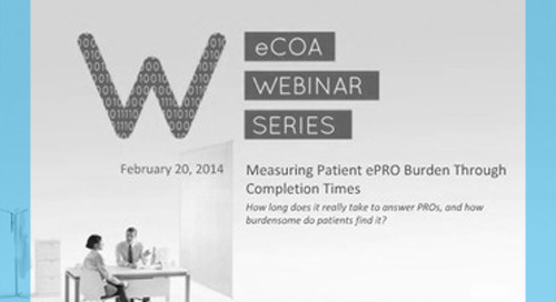 Measuring Patient ePRO Burden Through Completion Times