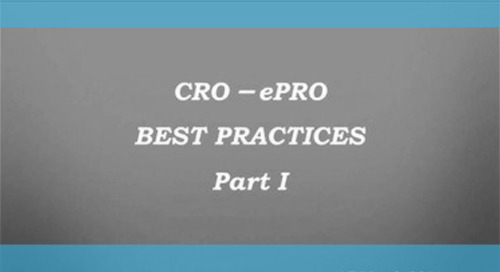 For CROs: ePRO Best Practices - Part I