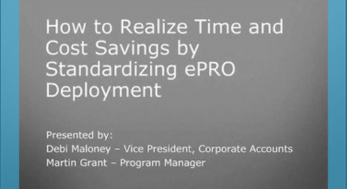How to Realize Time and Cost Savings by Standardizing ePRO Deployment