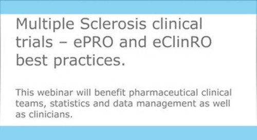 Multiple Sclerosis Clinical Trials: ePRO and eClinRO Best Practices