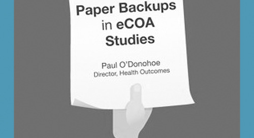 The Challenges of Paper Backups in eCOA Studies