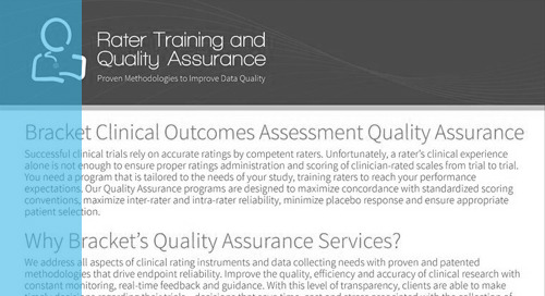 Rater Training & Data Quality Monitoring Overview
