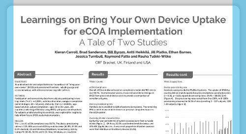 Poster: Lessons on BYOD Uptake for eCOA Implementation