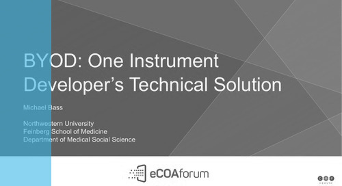 BYOD: One Instrument Developer's Technical Solution