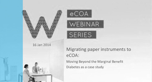 Migrating Paper Instruments to eCOA
