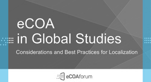 eCOA in Global Studies: Considerations and Best Practices for Localization