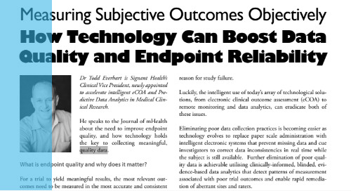 Measuring Subjective Outcomes Objectively: How Technology Can Boost Data Quality and Endpoint Reliability