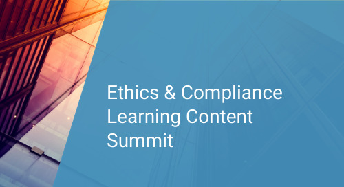 Ethics & Compliance Learning Content Summit: What's New at SAI Global   December 2019
