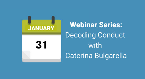 Decoding Conduct with Caterina Bulgarella: Healthy Habits for your Code of Conduct in 2020 - 10 AM, Jan. 31