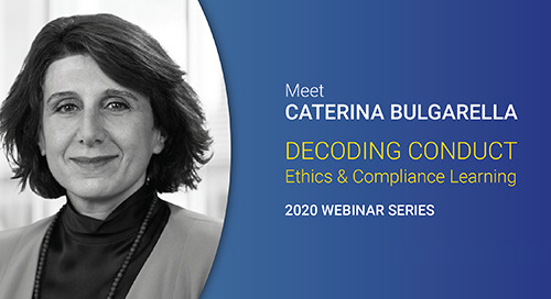 Introducing Decoding Conduct, Our New Webinar Series with Caterina Bulgarella