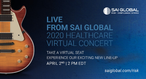 2020 Healthcare Compliance Virtual Concert, April 2
