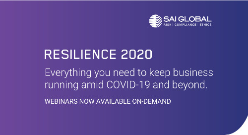 Resilience 2020: 6 Webinars on Business Continuity Planning
