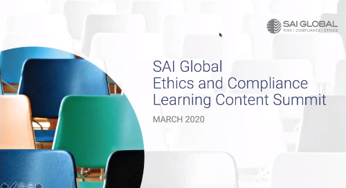 Ethics & Compliance Learning Content Summit | March 2020