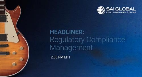 SAI360 for Healthcare Compliance Demo: Regulatory Compliance Management