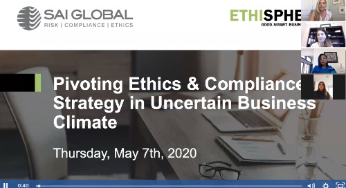 Pivoting Ethics & Compliance Strategy in an Uncertain Business Climate