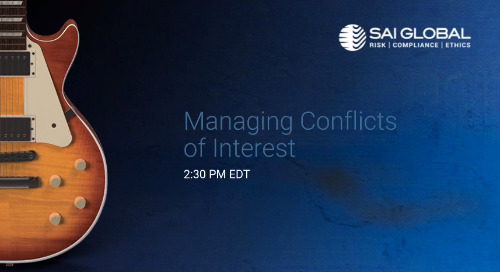 SAI360 for Healthcare Compliance Demo: Managing Conflicts of Interest