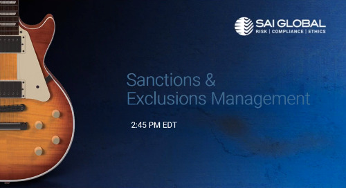 SAI360 for Healthcare Compliance Demo: Sanctions and Exclusions Management
