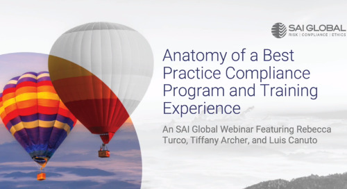 Anatomy of a Best-Practice Compliance Program and Training Experience