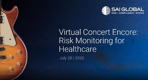 Virtual Concert Encore: Risk Monitoring for Healthcare – Demo Quick Set