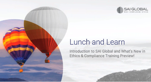 Lunch & Learn with SAI Global Ethics & Compliance Learning