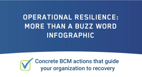 Infographic: Making Operational Resilience Actionable for Business Continuity Planners