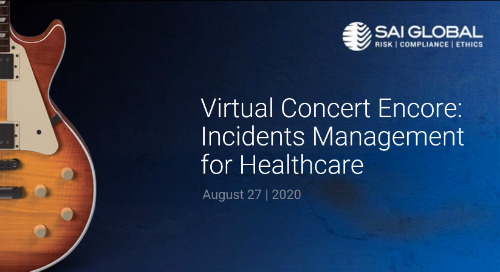 SAI360 for Healthcare Compliance Demo: Incidents Management