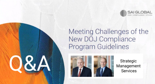 Q&A from our DOJ Healthcare Compliance Webinar