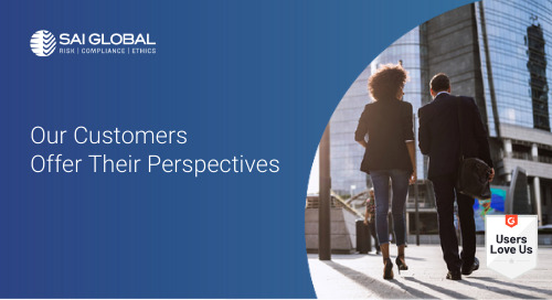 SAI Global Customers Offer their Perspectives