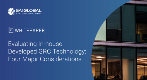 Evaluating In-house Developed GRC Technology: 4 Major Considerations