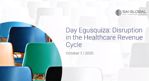 Day Egusquiza: Disruption in the Healthcare Revenue Cycle