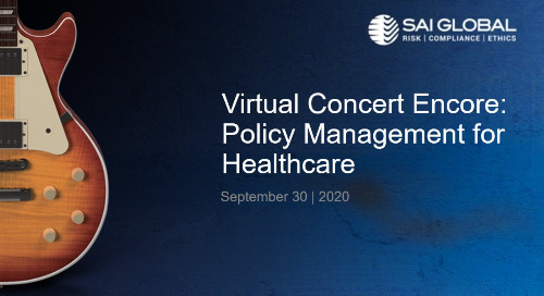 SAI360 for Healthcare Compliance Demo: Policy Management