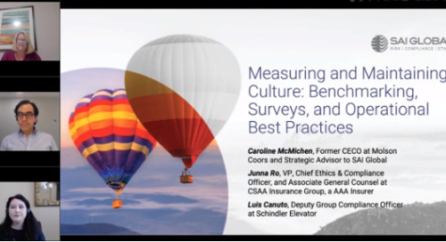 Measuring and Maintaining Culture: Benchmarking, Surveys and Operational Best Practices