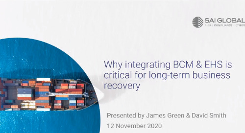 Why Integrating BCM and EHS is Critical for Long-term Business Recovery