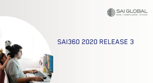 SAI360 Latest Release Delivers Solutions for Organizations of Any Size to Reset Business Behaviors for a Sustained Risk Journey