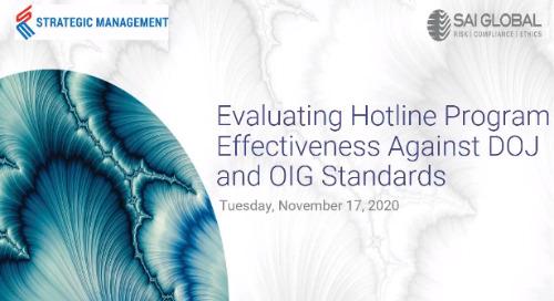 Evaluating Hotline Program Effectiveness Against DOJ and OIG Standards